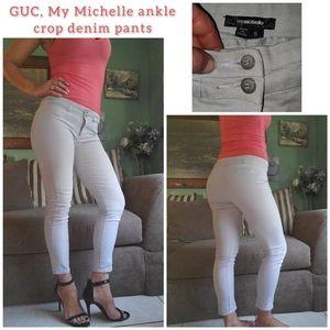 GUC, My Michelle gray ankle crop denim pants